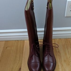 Brand New Juicy Couture riding boots wine color
